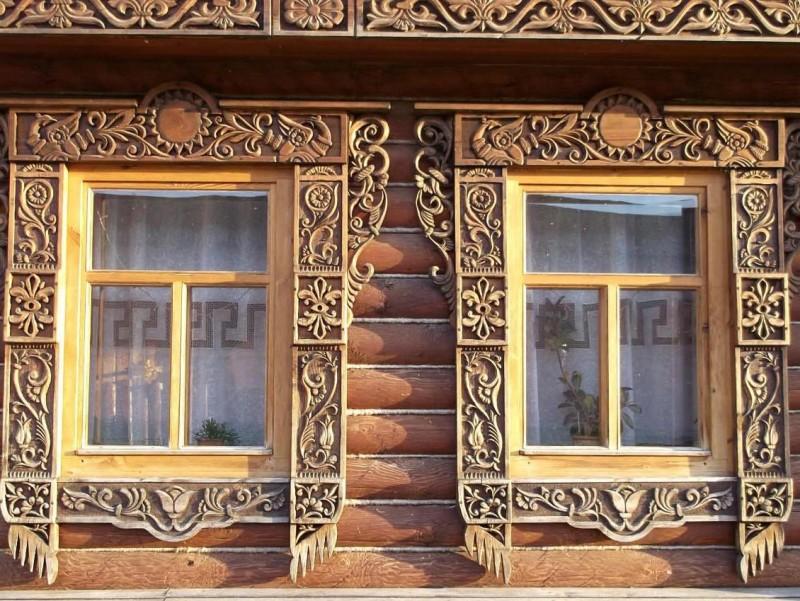 Фото 10: Деревянные наличники резные на окна