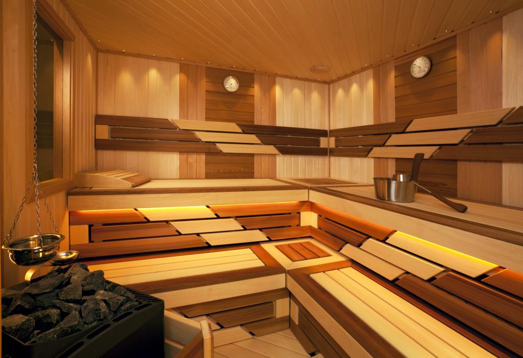 Фото 6: Дизайн отделки полоков в бане