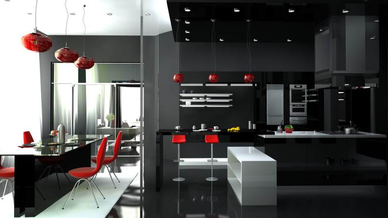Фото 9: Дополнение дизайна кухни люстрами
