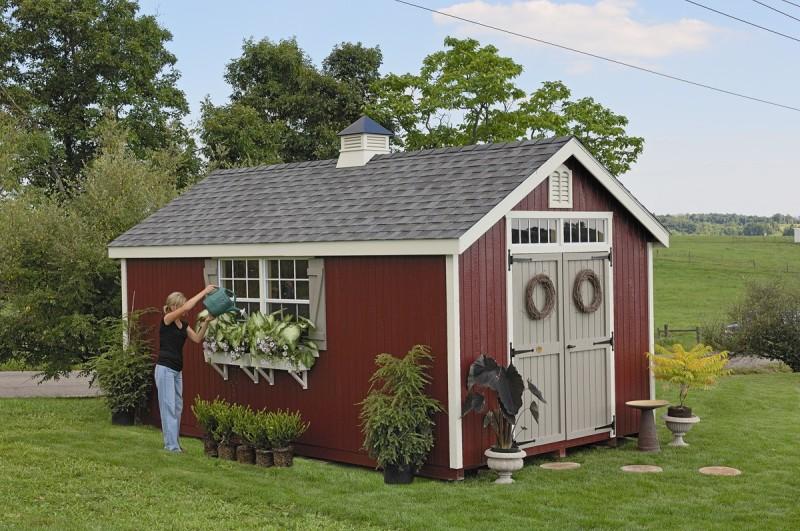 Фото 14: Садовый домик в американском стиле