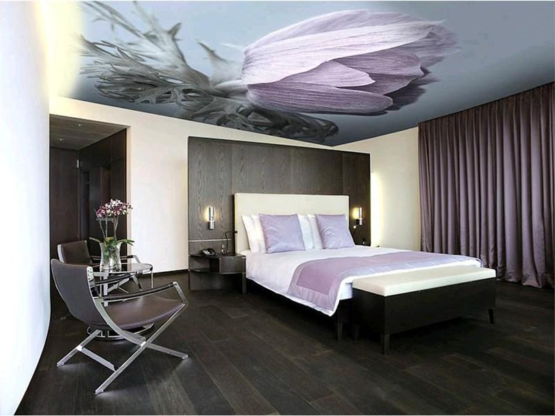 Фото 14: Глянцевый натяжной потолок с фото рисунком
