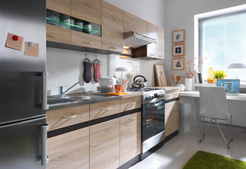 Фото 12: Интерьер кухни с сонома