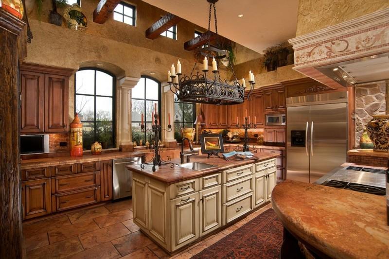 Фото 14: Кованая люстра для кухни
