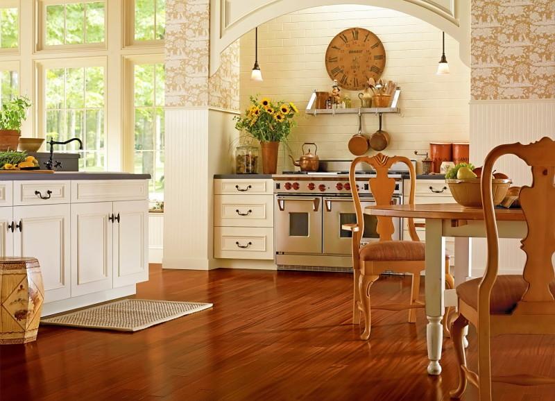 Фото 16: Ламинат на кухне