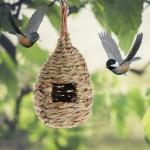 Фото 56: Плетеная кормушка–гнездо