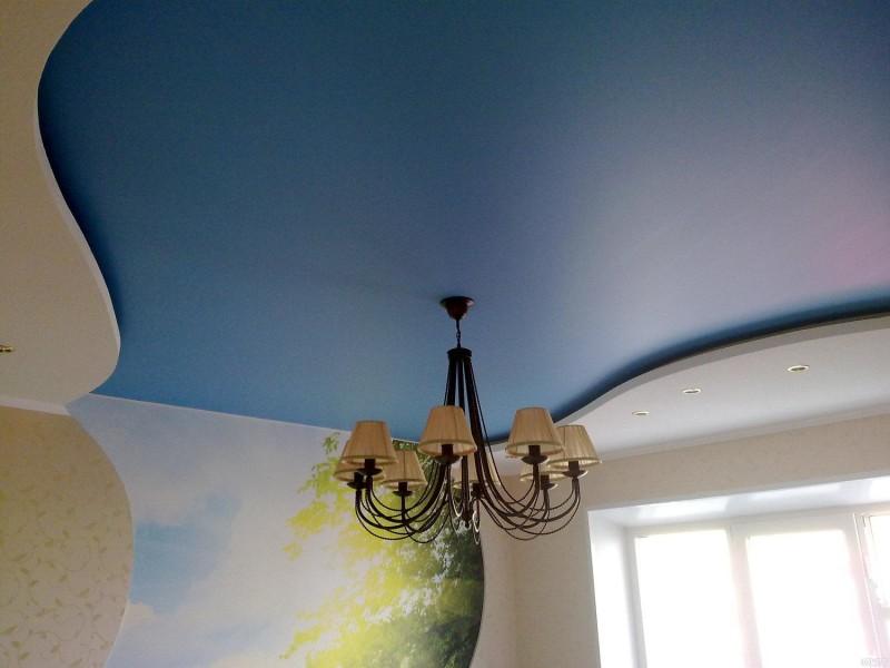 Фото 21: Сатиновый натяжной потолок
