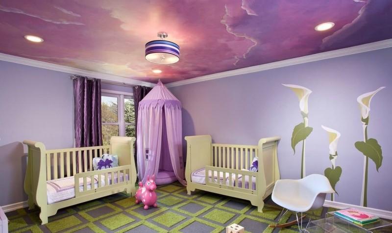 Фото 27: Натяжной потолок в детской
