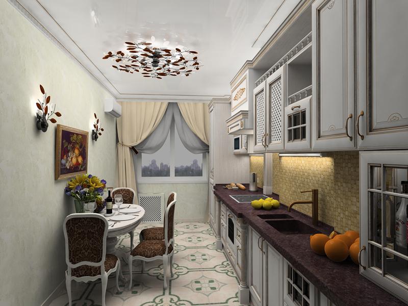Ползущие светильники для кухни