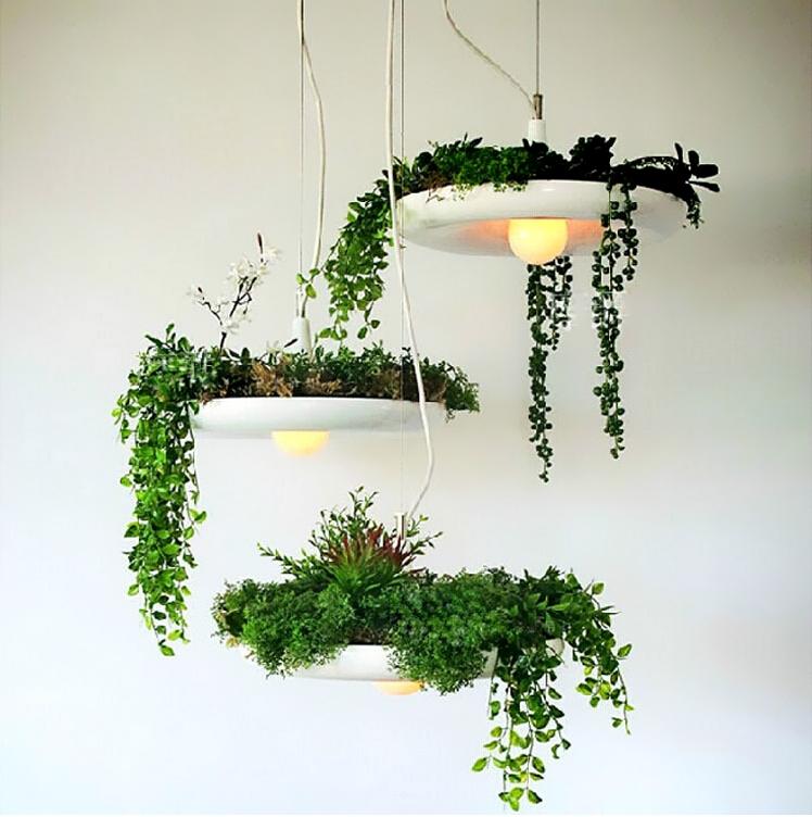 Фото 30: Украшение светильников зеленью