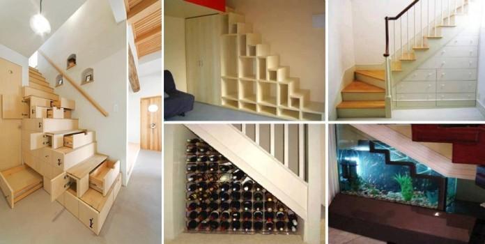 Хранилище под лестницей несколько оригинальных идей