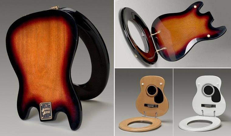 сиденье для унитаза в форме гитары