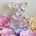 Фото 66: Цифра 3 с цветами