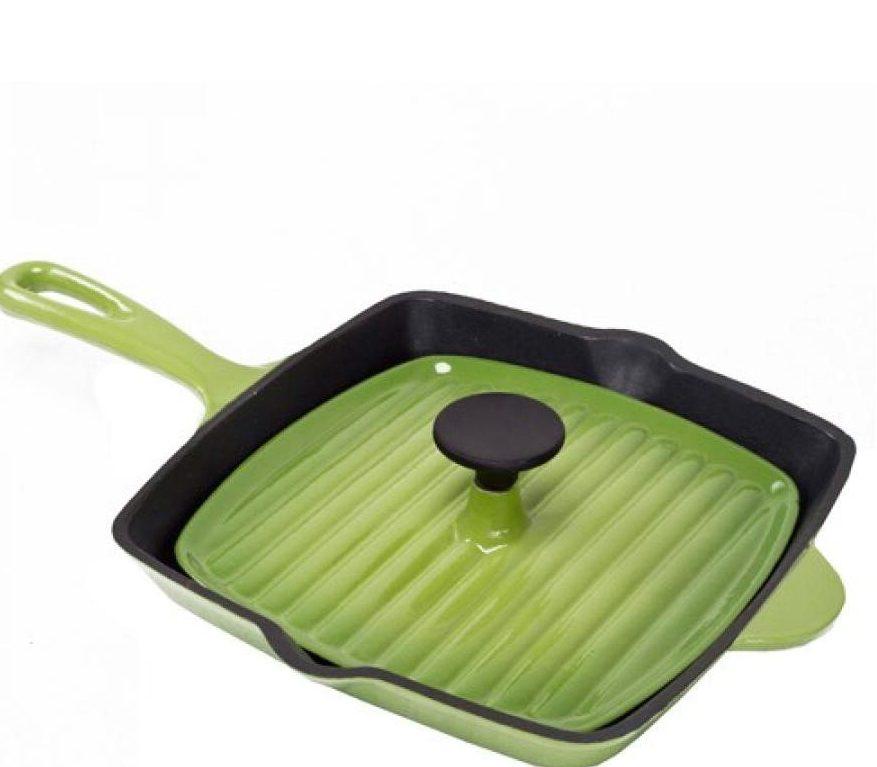 Сковорода гриль с крышкой