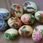 Фото 8: Декупаж яиц салфетками с цветами