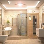 Фото 11: Дизайн ванной комнаты с душевой