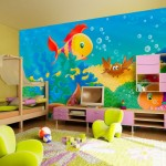 Фото 13: Оформление стены в детской комнате