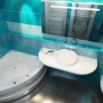 Фото 7: Интерьер ванной комнаты совмещенной с туалетом