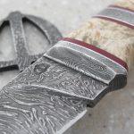 Фото 1: Нож из дамасской стали