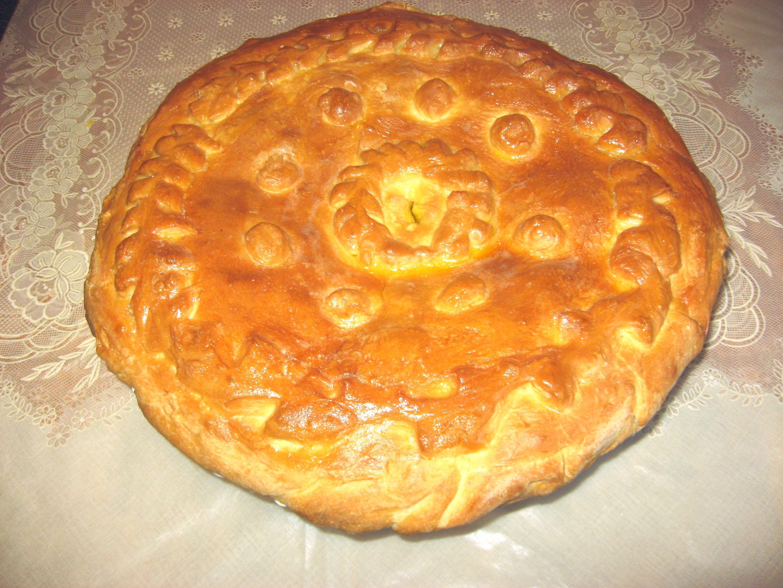 Украшение пирога косичкой