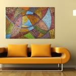 Фото 7: Картины в стиле абстрактной мозаики в интерьере