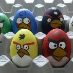 Фото 65: Роспись яиц под Энгри бердс