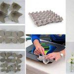 Фото 55: Как сделать декор рамки цветами из яичной упаковки своими руками