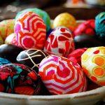 Фото 45: Декупаж яиц тканью