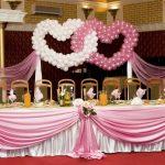 Фото 1: Декор шарами сердечками
