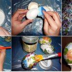 Фото 24: Этапы декупажа деревянных яиц