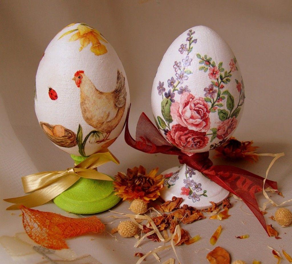 Декупаж Пасхальных яиц из пенопласта