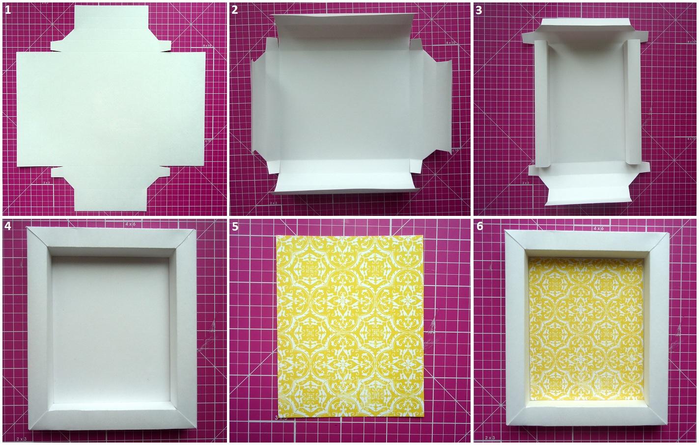Изготовление рамки из картона своими руками