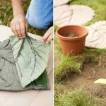 Фото 19: Изготовление формы садовой плитки в виде листьев