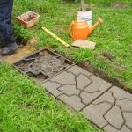 Фото 21: Изготовление бетонной дорожки