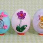 Фото 8: Украшение яиц к пасхе элементами квиллинга