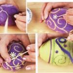 Фото 9: Украшение яиц к пасхе с использованием техники валяния