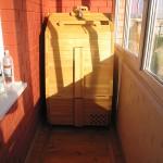Фото 20: Кедровая бочка на балконе