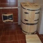 Фото 23: Кедровая бочка в ванной