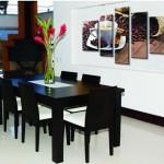 Фото 19: Модульные картины в современном стиле для столовой