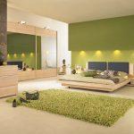 Фото 5: Мебель в спальню в зеленом цвете