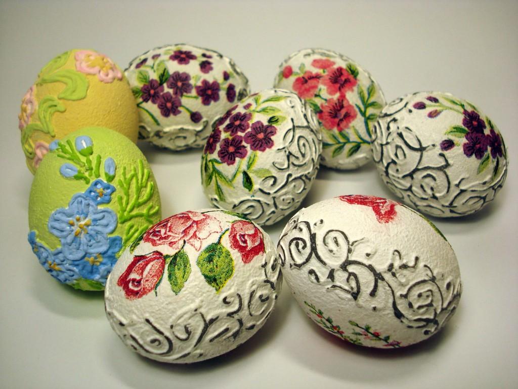 Объемный декупаж яиц