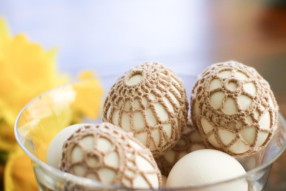 Обвязка яиц крючком