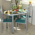 Фото 12: Небольшой овальный стол