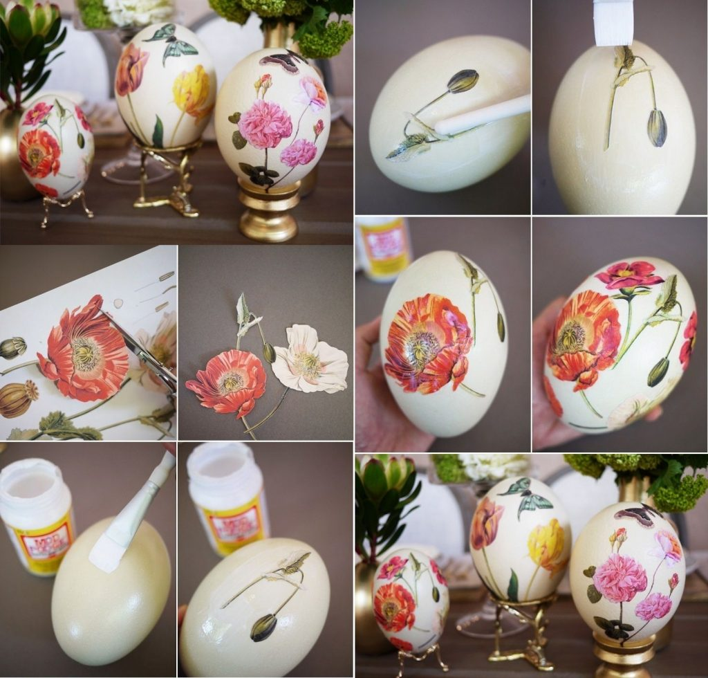 Декупаж пенопластовых яиц