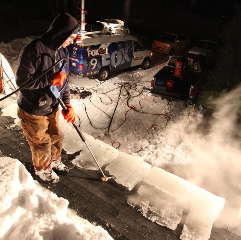 Электрочистка снега с крыши