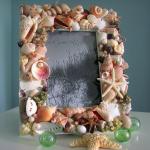 Фото 65: Декор рамки ракушками