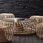 Фото 18: Кофейный столик из ротанга