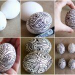 Фото 62: Роспись михенди яиц