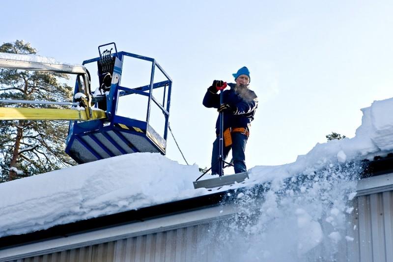 Уборка снега скреперов
