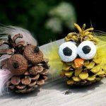 Фото 45: Поделки совы из шишек
