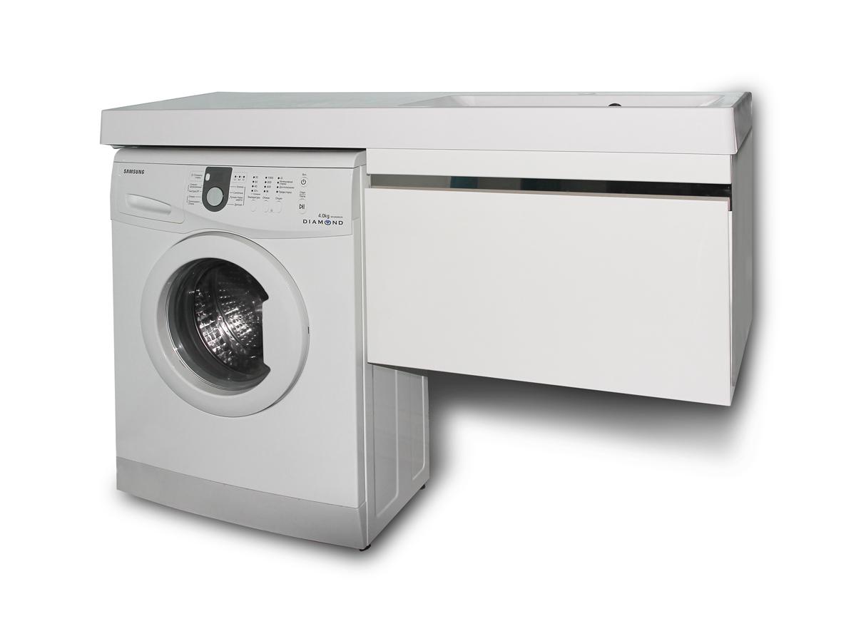 Тумба с раковиной под стиральную машинку